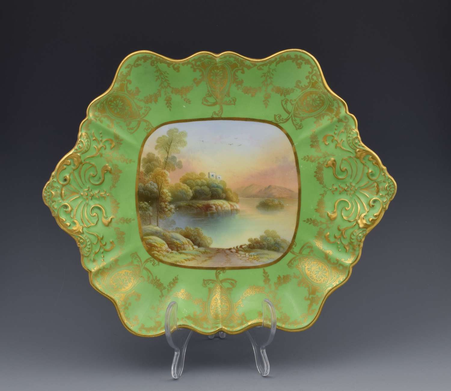Aynsley Cabinet Dessrt Serving Plate F. Micklewright C.1910