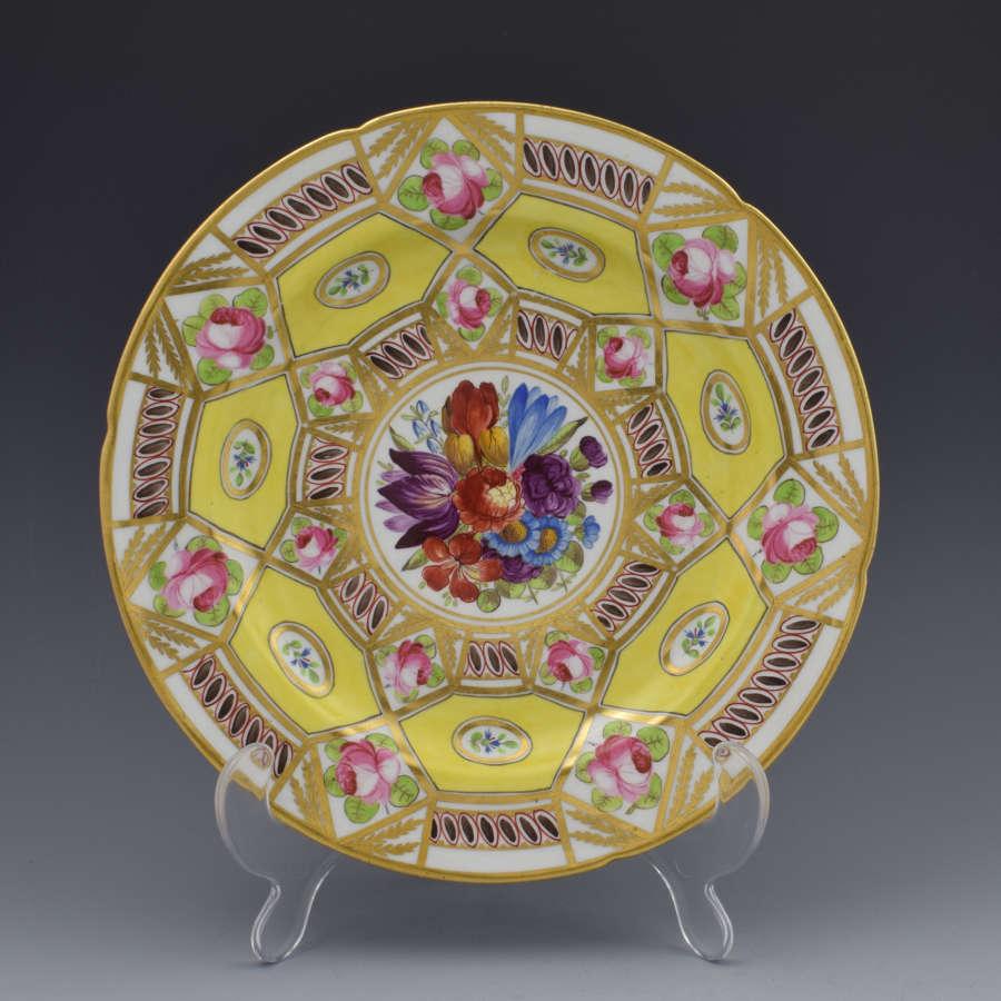 Stunning Coalport Cabinet Plate Church Gresley Pattern C.1820
