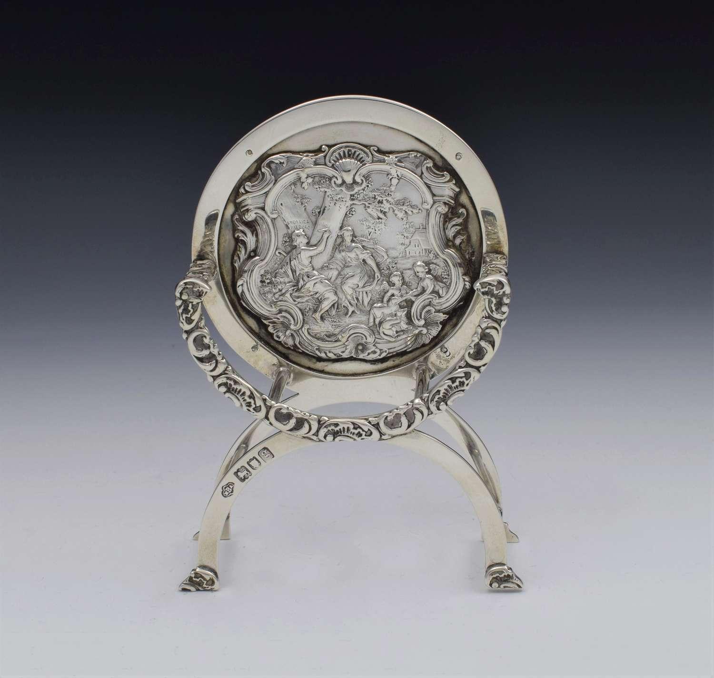 Unusual Edwardian English Silver Miniature Chair Batson & Son 1902