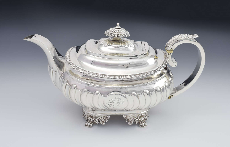George III Silver Teapot Solomon Royes & John East Dix