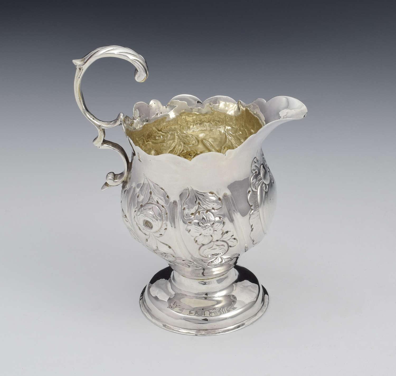 Early George III Silver Pedestal Cream Jug 1763
