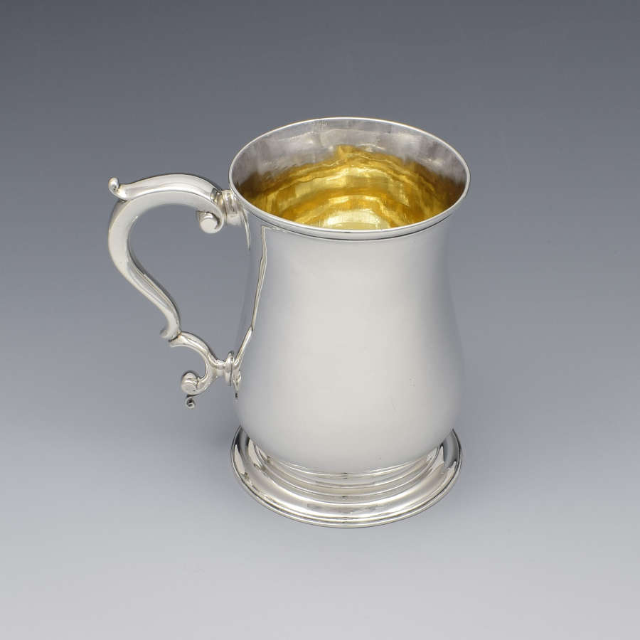Lovely George III Silver Beer Mug Tankard Whipham & Wright 1766