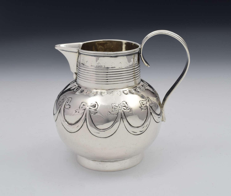 George III Silver Sparrow Beak Cream Jug London 1801