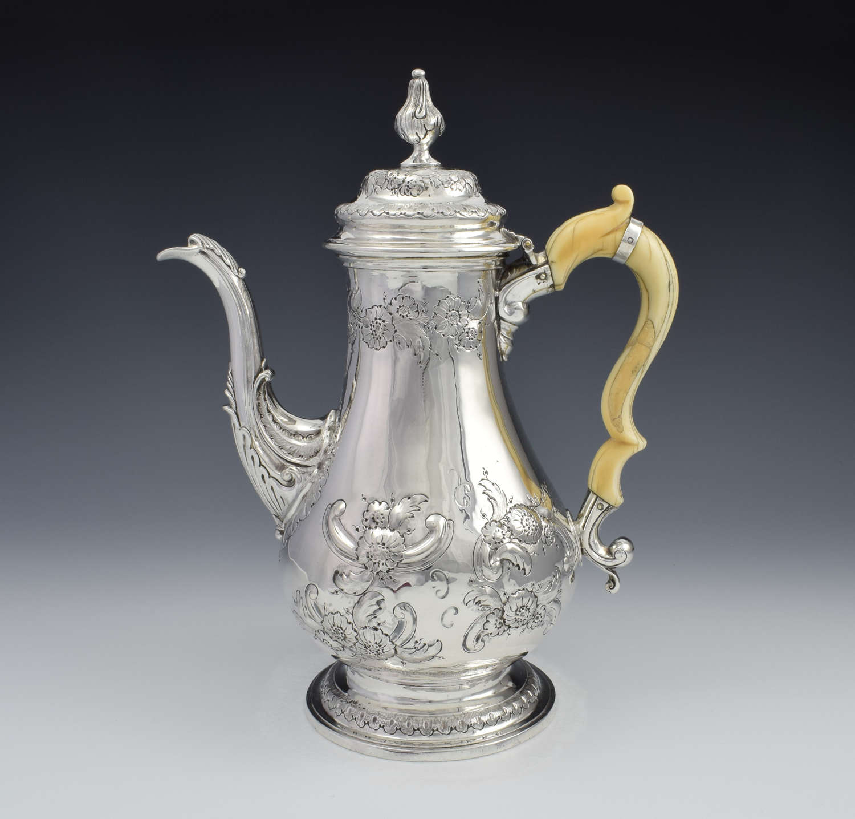 George III Silver Coffee Pot London 1817 Samuel Knight