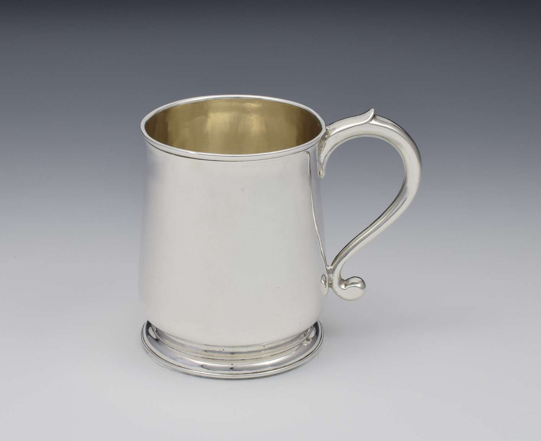 Early George II Half Pint Silver Mug Tankard 1729 Edward Pocock