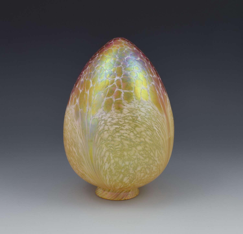 Art Nouveau Loetz Candia Papillon Glass Lamp Shade
