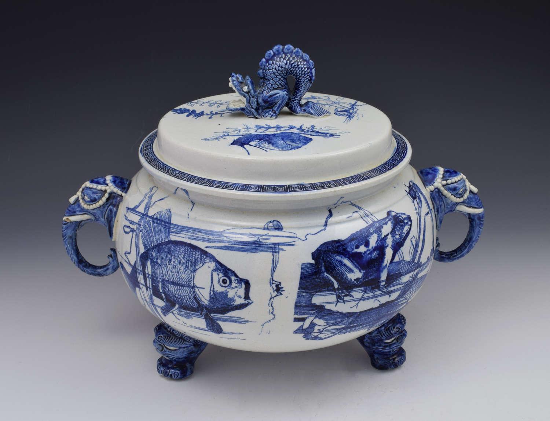 Choisy Le Roi Hippolyte Boulenger & Co Large Soup Tureen Thai Pattern