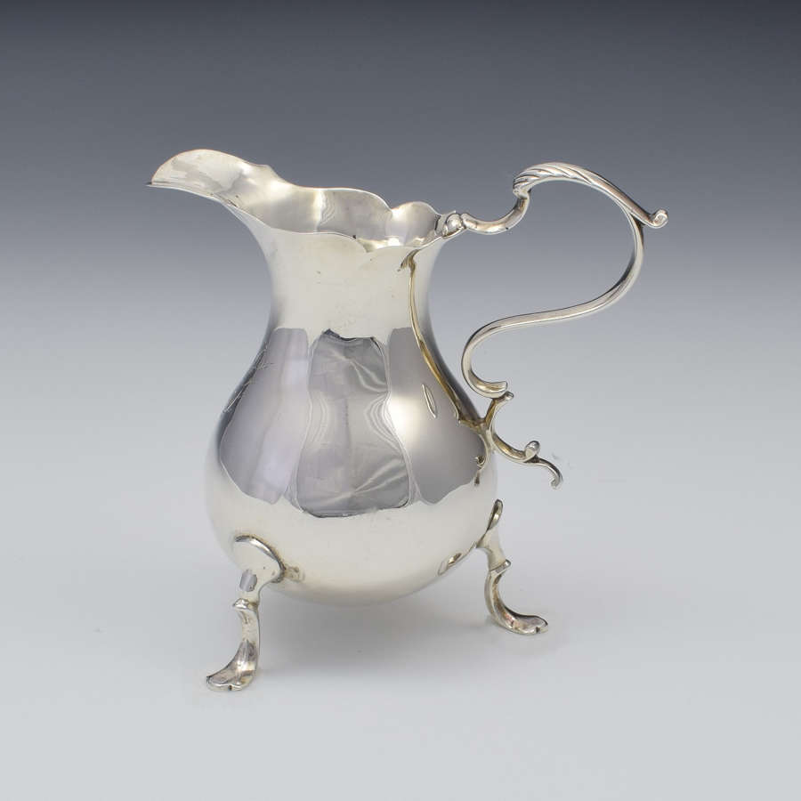 George II Silver Cream Jug London Philip Goddard