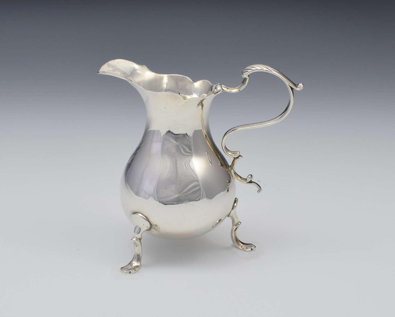 George II Silver Cream Jug London Philip Goddard