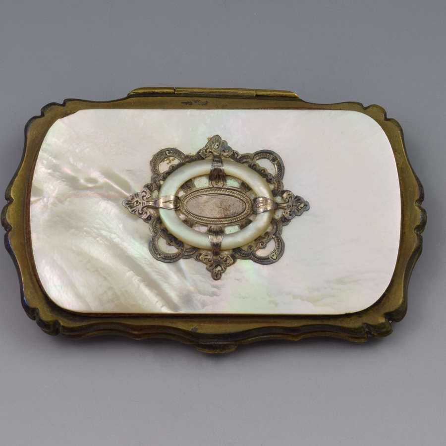 19th Century French Mother Of Pearl Coin Purse