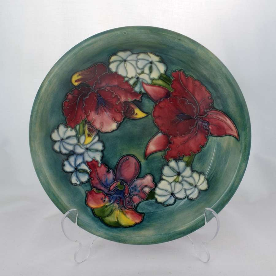 Moorcroft Dish Iris & Spring Flowers Pattern Plate