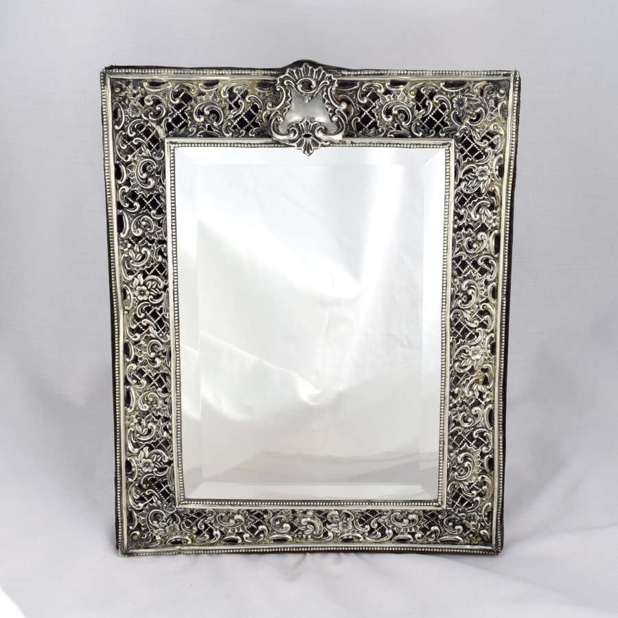 Victorian Silver Easel Back Dressing Table Mirror Henry Matthews