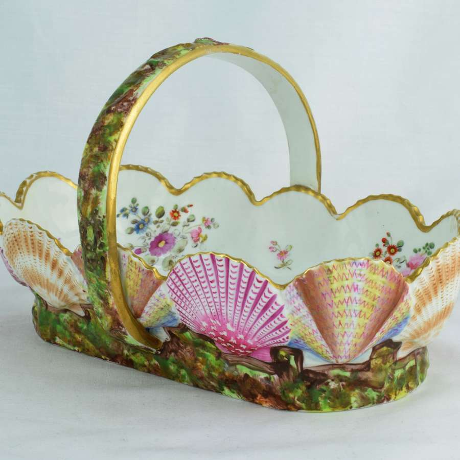 Spode Porcelain Scallop Shell Basket Regency C.1820