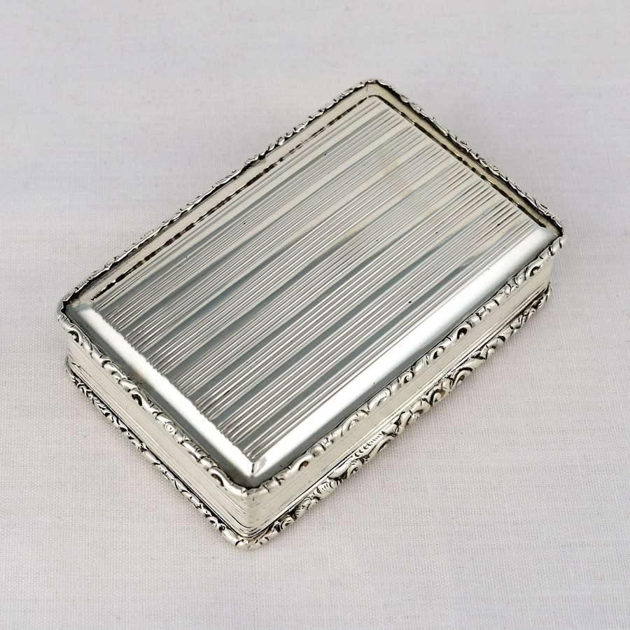 Early Victorian Silver Snuff Box Nathaniel Mills 1840