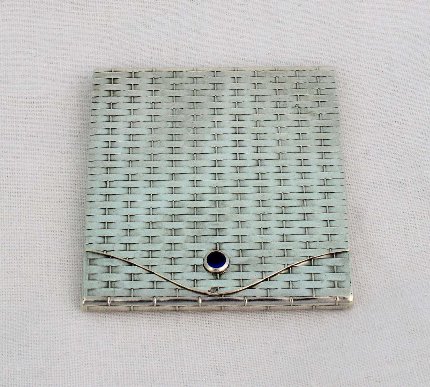 Austro-Hungarian Silver Basket Weave Matchbook Case