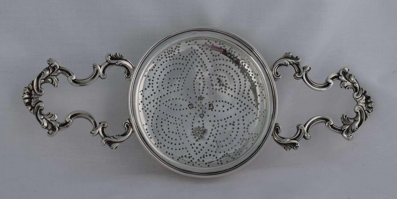 Rare Georgian Silver Lemon Punch Strainer 1762 Samuel Courthauld