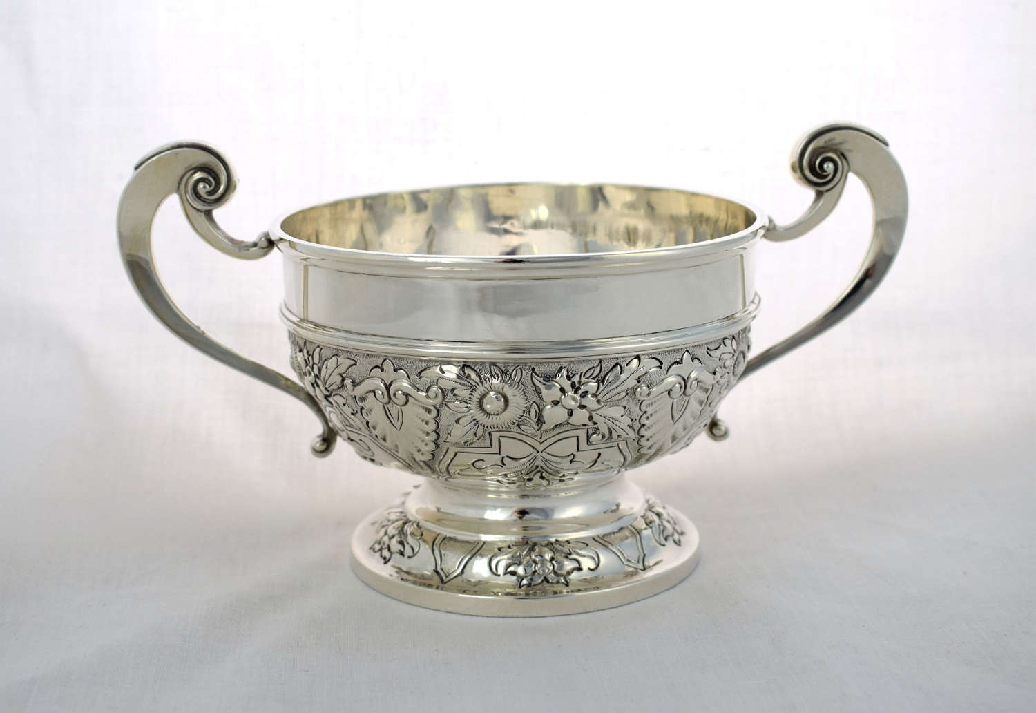 Victorian Silver Twin Handled Rose Bowl Harrison Brothers & Howson