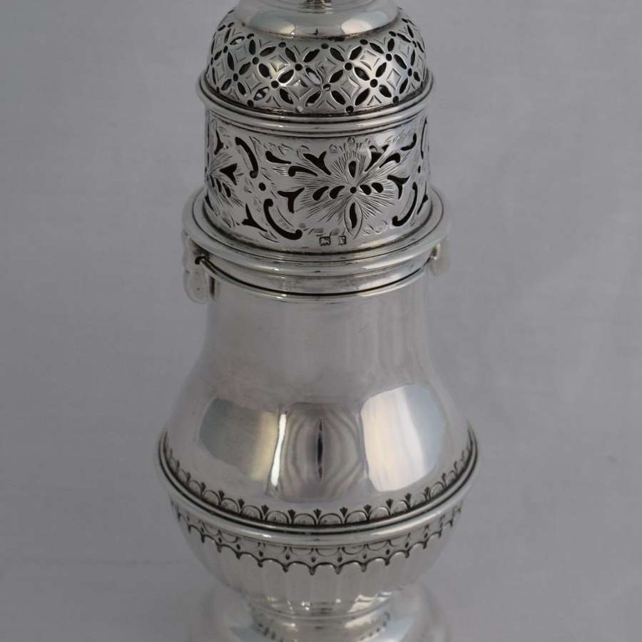 Fine Silver Sugar Caster Bayonet Twist Lid Nathan & Hayes  Chester