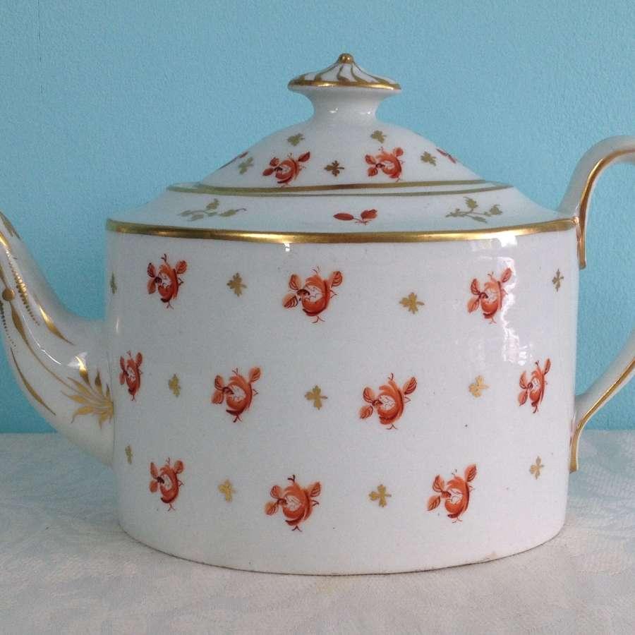 Georgian New Hall Teapot Old Oval Shape Pattern 546