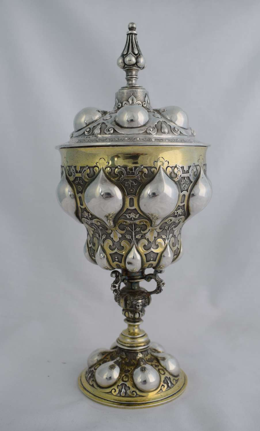 Victorian English Silver Pineapple Cup & Cover After Nuremberg