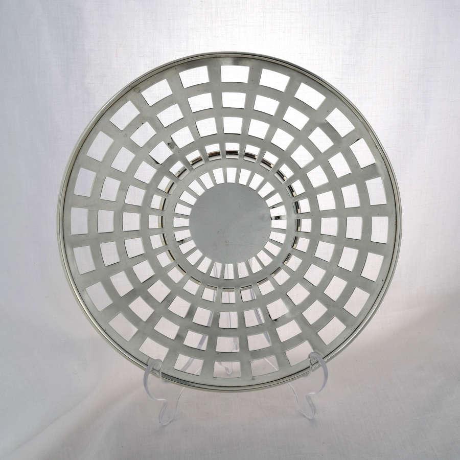American Silver Pierced Dish 1920s Woodside Sterling Co.