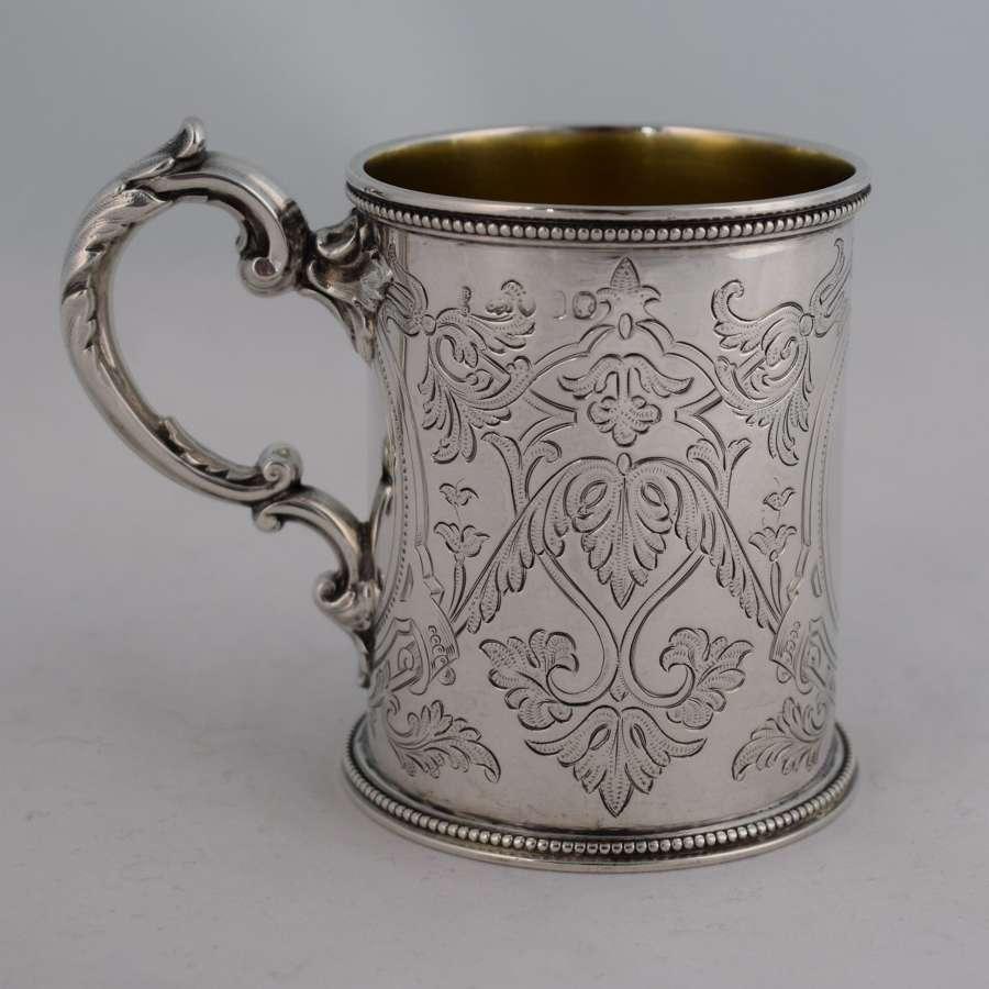 Victorian Silver Christening Mug John & Edward Barnard