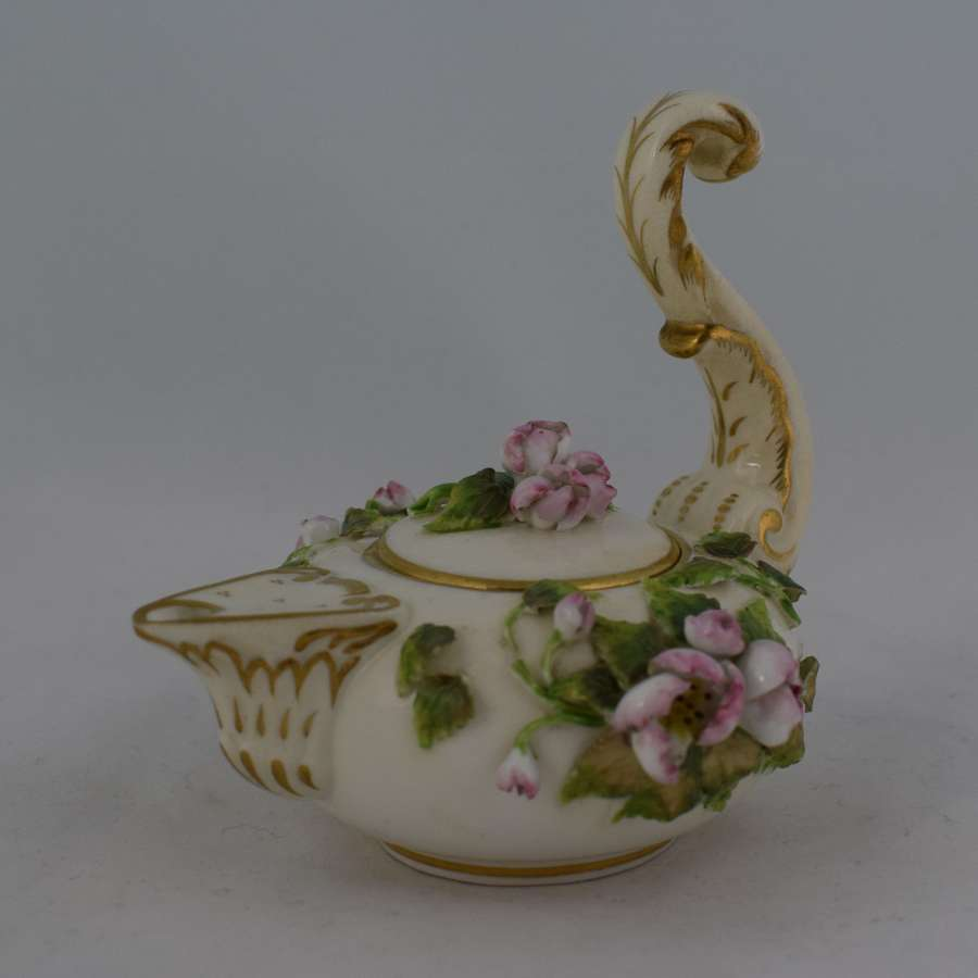 Derby Porcelain Flower Encrusted Perfume Dropper Rose Water Sprinkler