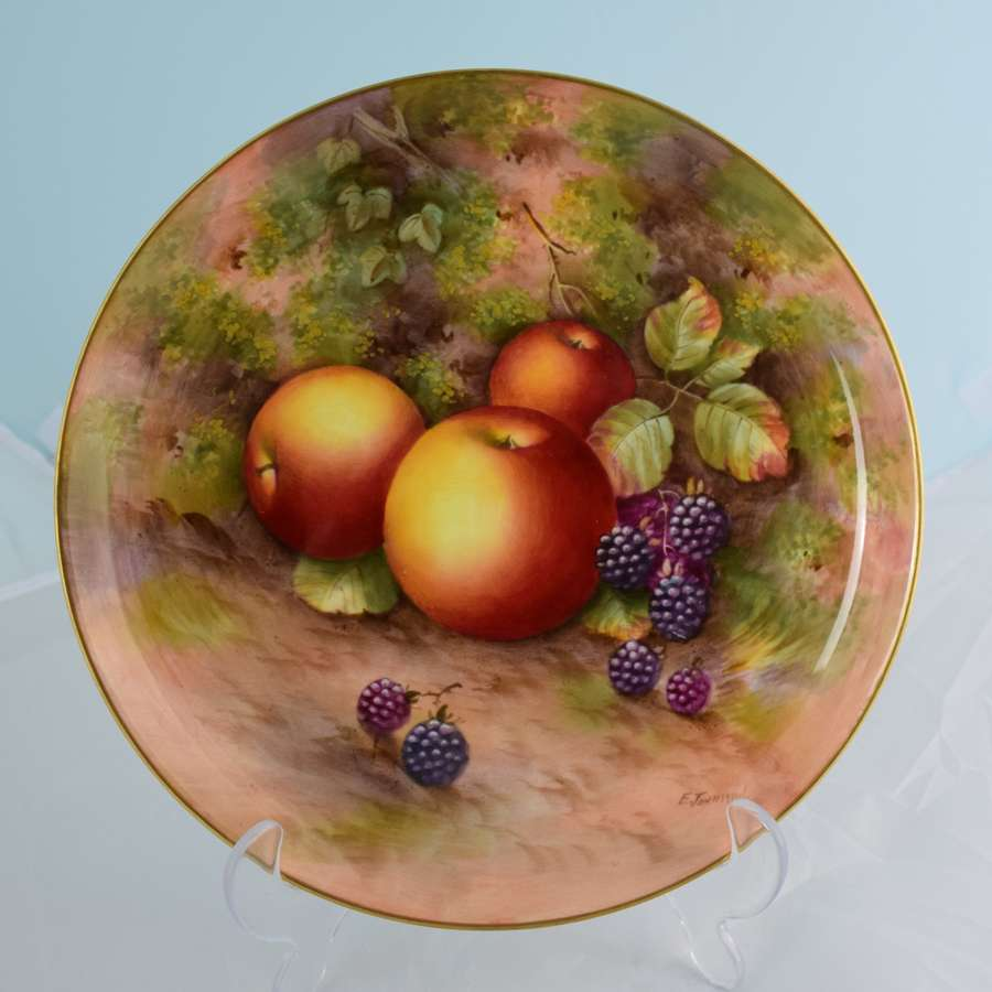 Royal Worcester Porcelain Fruit Cabinet Plate Townsend
