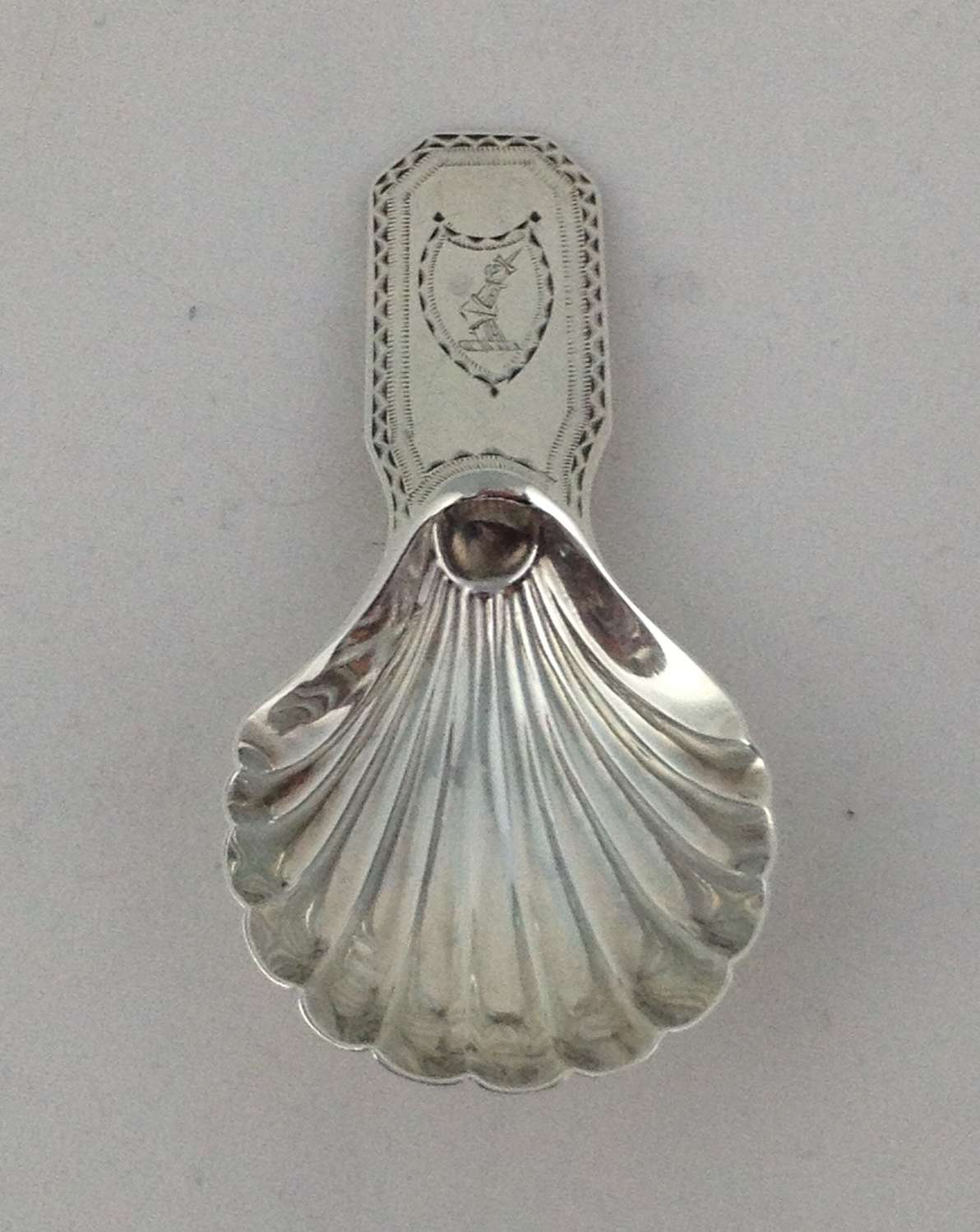 George III Silver Scallop Shell Caddy Spoon 1790 Smith & Fearn
