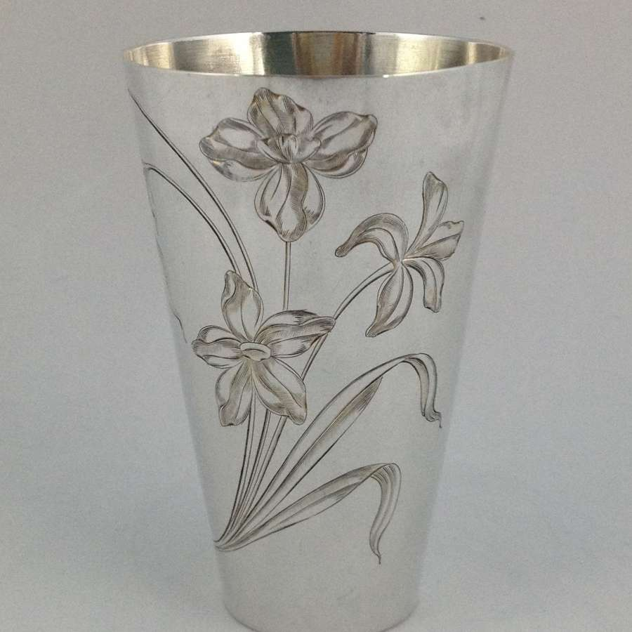 Russian Silver Beaker Art Nouveau Moscow 1899-1908
