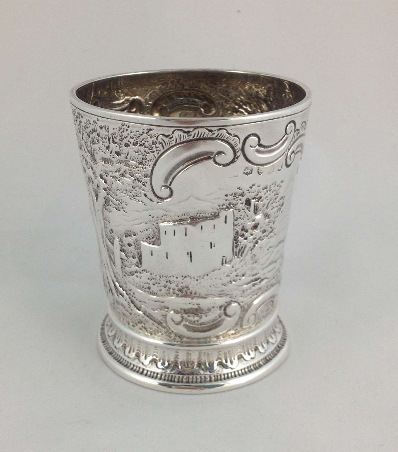 George III Embossed Silver Beaker London 1817