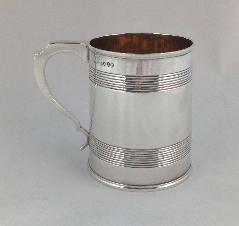 Victorian Silver 1 Pint Beer Mug Frederick Brasted