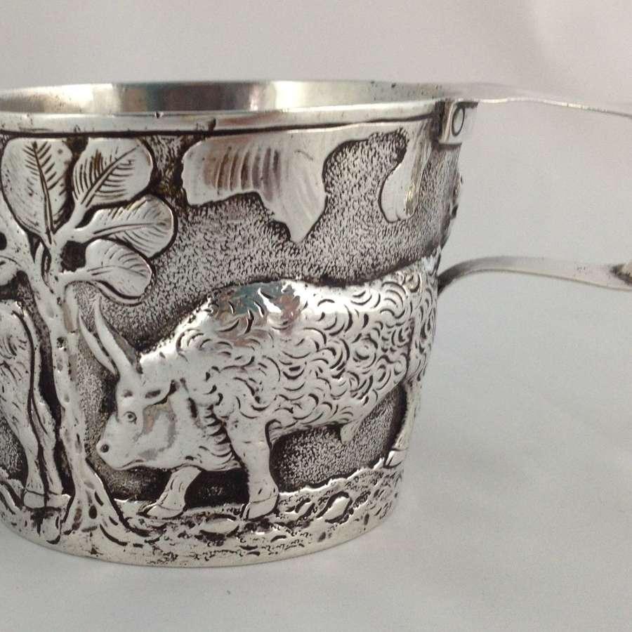 Edwardian Silver Vapheio Cup Taming Wild Bulls Ridley & Hayes