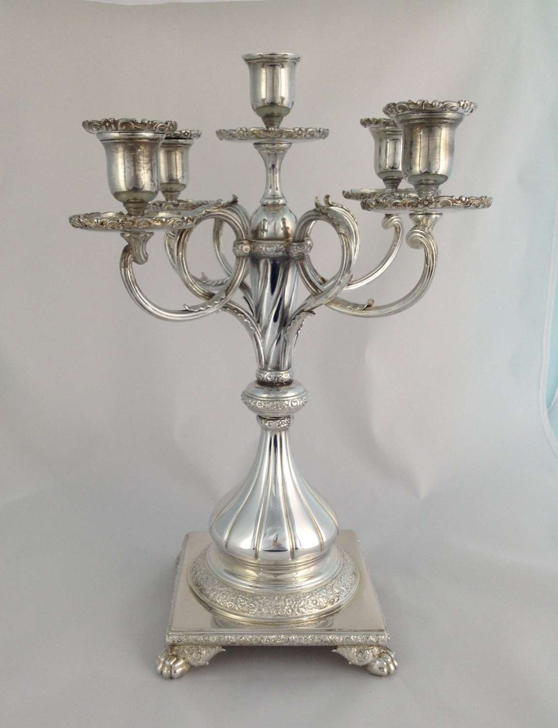 Tiffany & Co. Silver Plated 5 Sconce Candelabra Victorian C.1890 6141