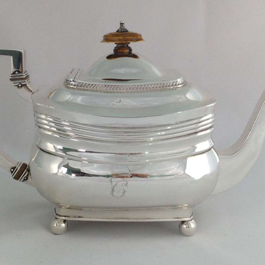 George III Silver Teapot Peter & William Bateman London 1809