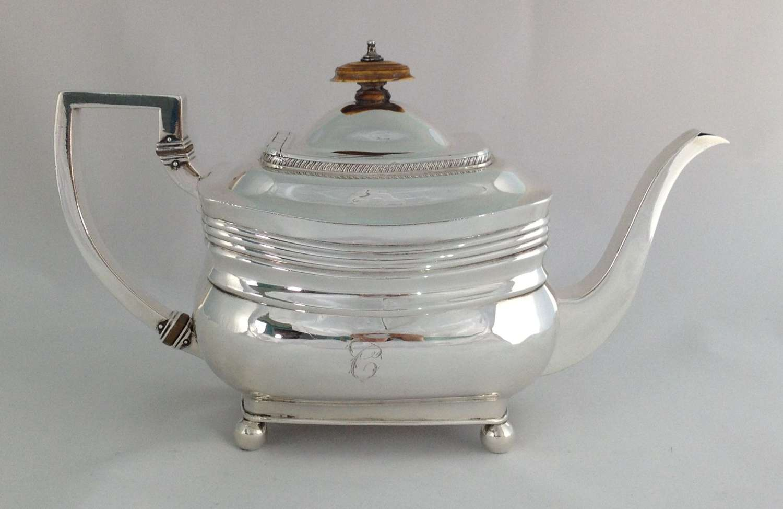 George III Silver Teapot Peter & William Bateman London 1809
