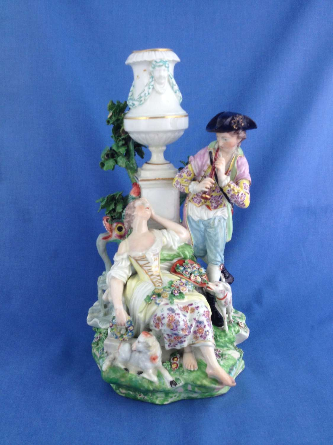 Derby Porcelain The Pastoral Fountain Group N12 Figure