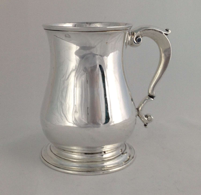 George II Solid Silver 1 Pint Beer Mug Tankard Gabriel Sleath