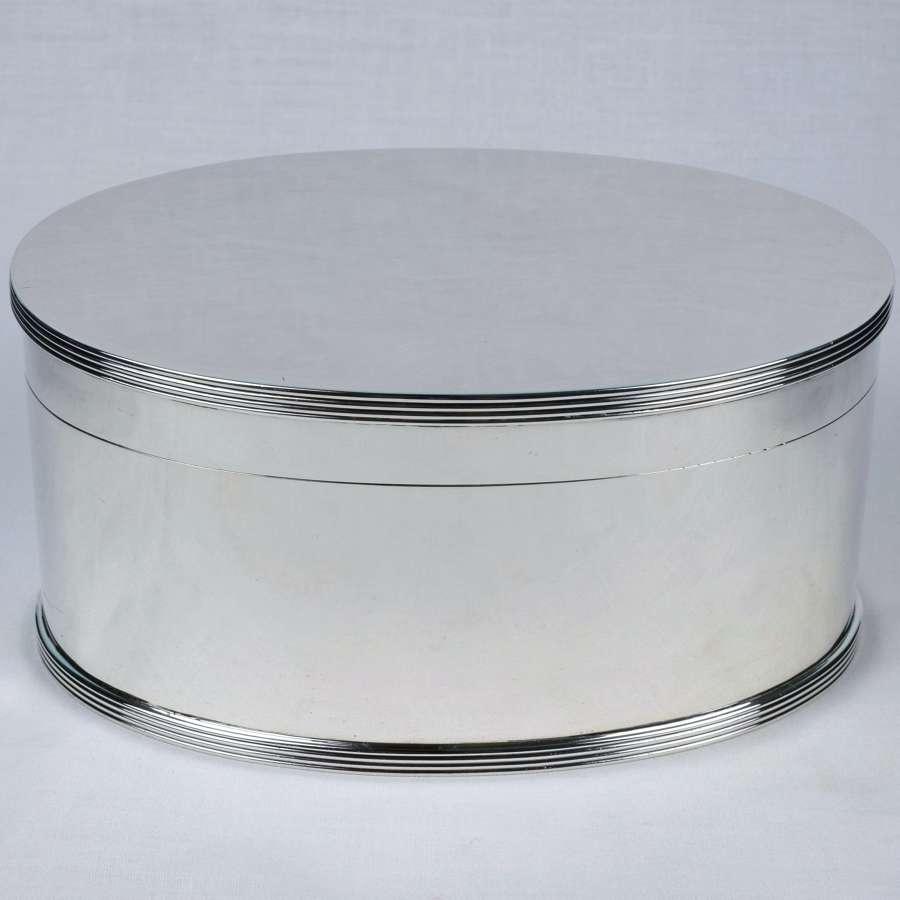 Art Deco Sterling Silver Biscuit Wafer Box Goldsmiths & Silversmiths