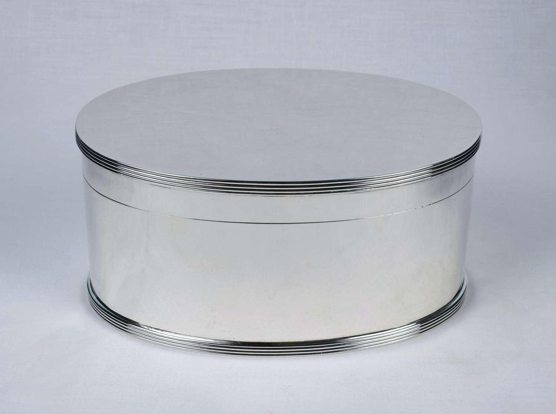 Art Deco Sterling Silver Biscuit Wafer Box Goldsmiths & Silversmiths
