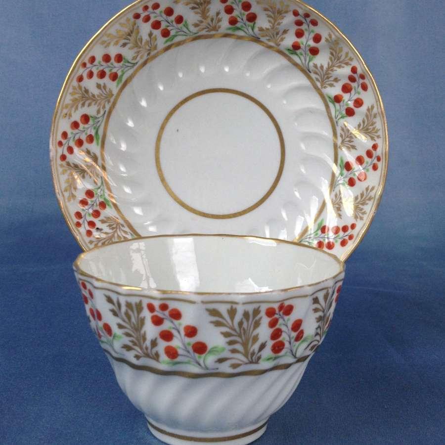 Flight Period Worcester Porcelain Shanked Tea Bowl & Saucer