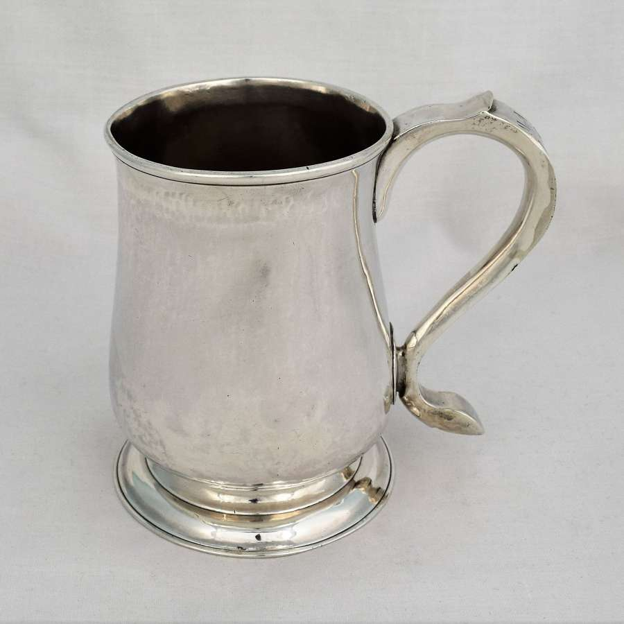 George II Silver 1 Pint Beer Mug Newcastle John Langlands I 1757