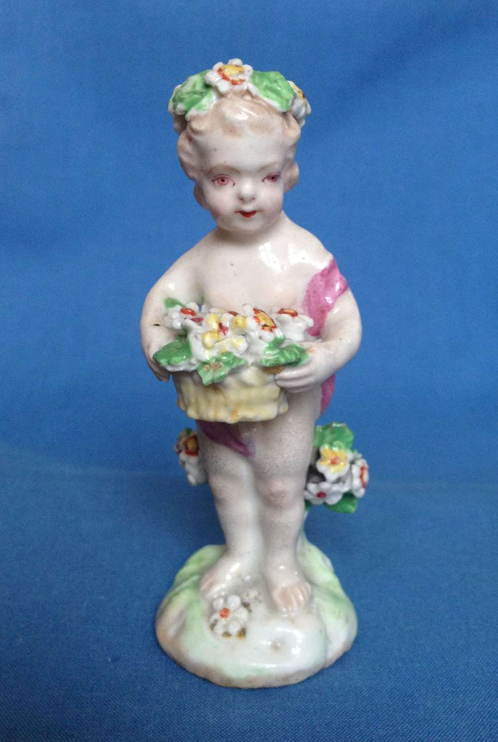 Georgian Derby Porcelain Small Putto Figure