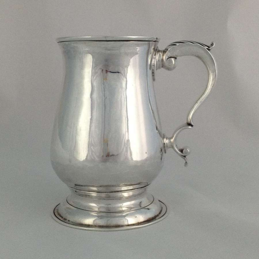 George III Silver Pint Tankard London 1781 George Smith II
