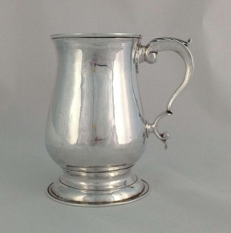 George III Silver Pint Tankard London 1781 George Smith II