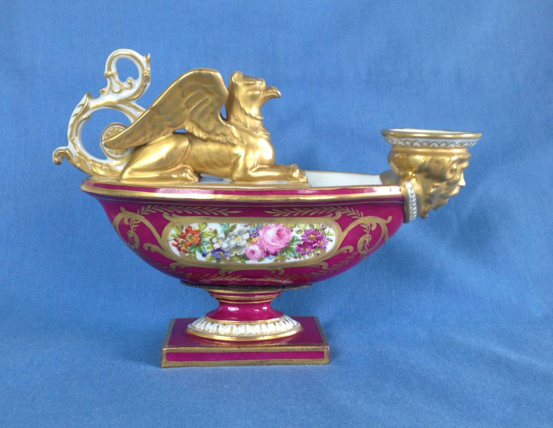 Sevres Imperial Porcelain Aladdin Oil Lamp c.1804-1814