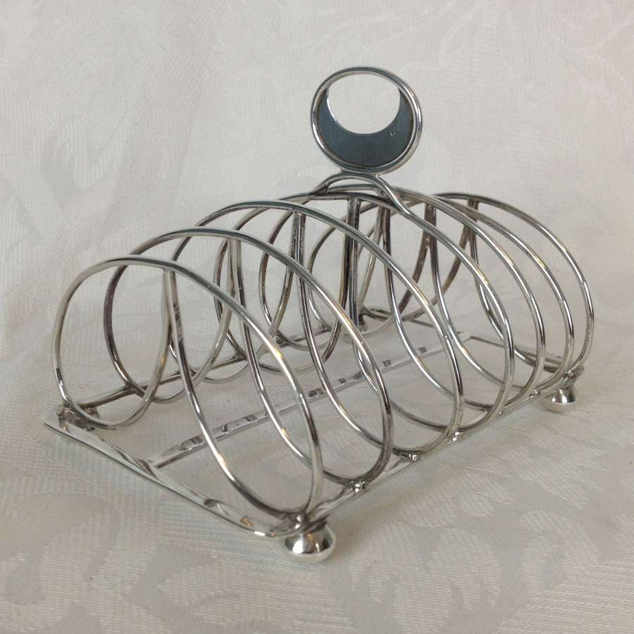 Georgian Silver 6 Slice Toast Rack 1800 Solomon Hougham