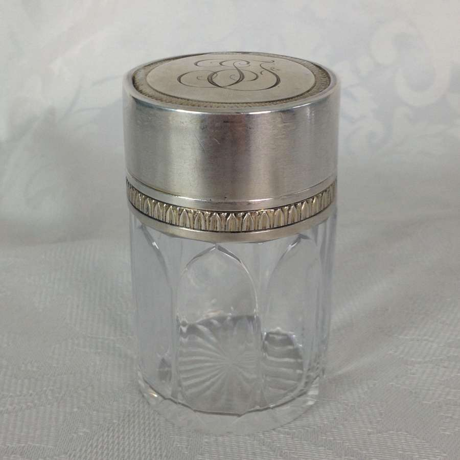 Art Nouveau Henri Lapeyre French Paris Silver Dressing Jar