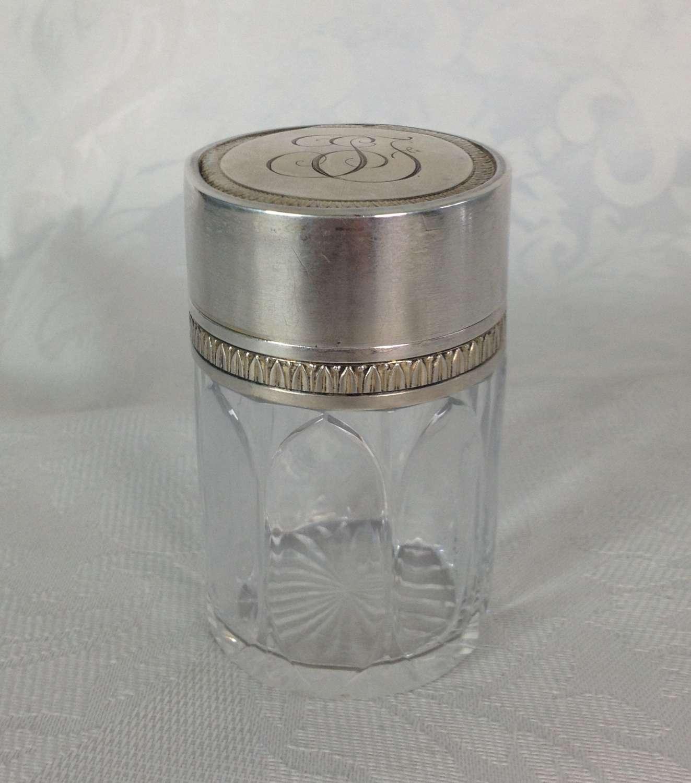 Art Nouveau Henri Lapeyre French Paris Silver Dressing Jar