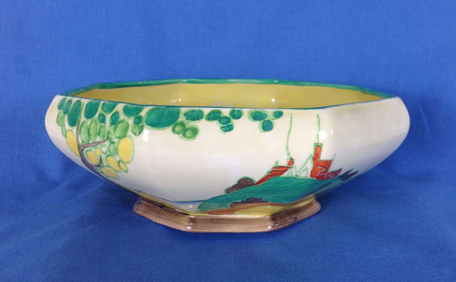 Clarice Cliff Secrets Pattern Large Octagonal Table Bowl